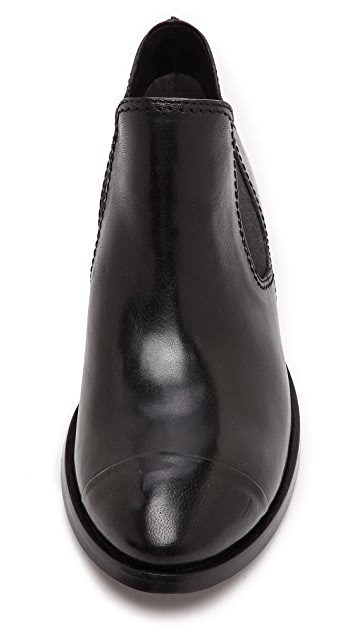 CoSTUME NATIONAL Leather Booties