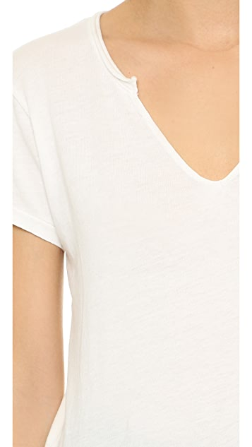 Cotton Citizen The Marbella V Neck Tee