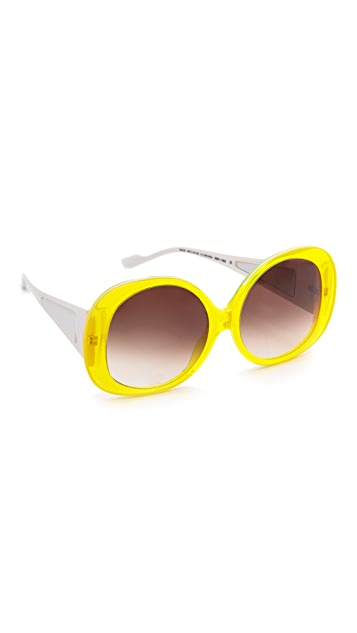 Courreges Glam Oversized Sunglasses