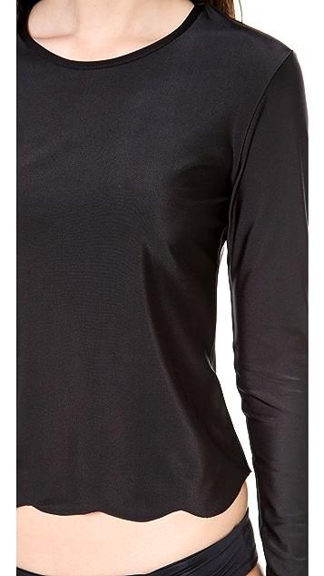 Cover Scalloped Long Sleeve Rash Guard