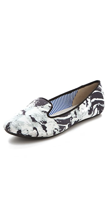 Charles Philip Eula Marble Print Flats