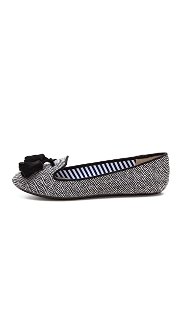 Charles Philip Lana Herringbone Loafers