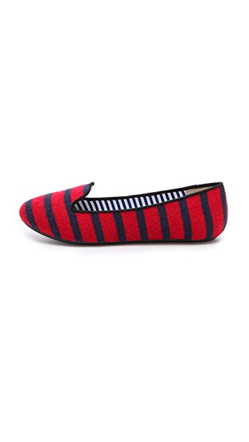 Charles Philip Sheila Stripe Loafers