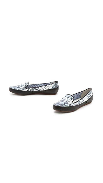 Charles Philip Gaby Aztec Print Flats