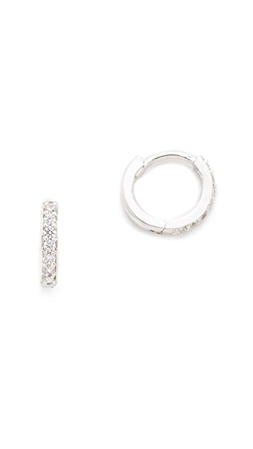Cloverpost Stone Hug Hoop Earrings