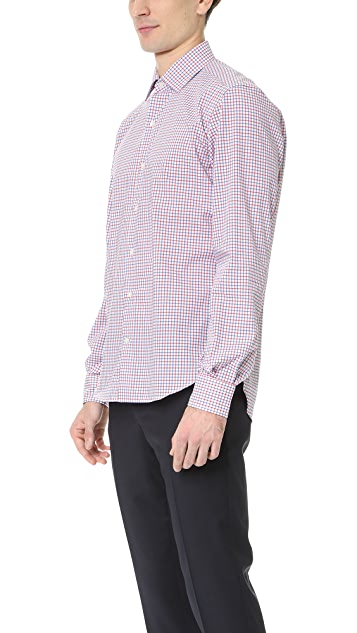 Culturata Point Collar Check Shirt