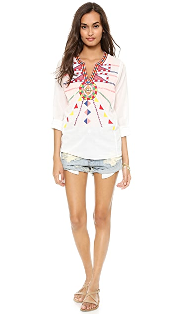 Christophe Sauvat Collection Tulum Cover Up Top