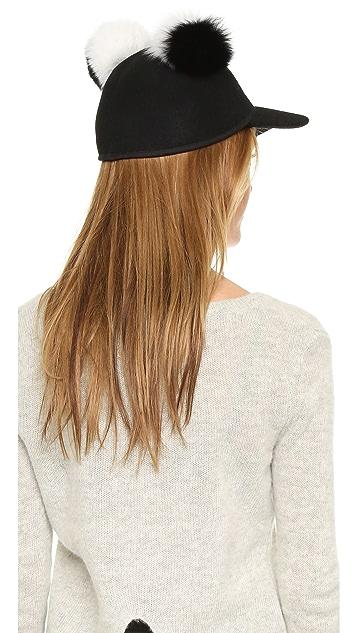 Charlotte Simone Sass Double Pom Cap