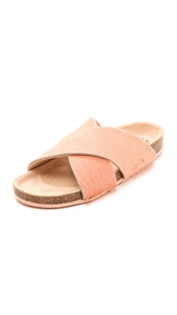Charlotte Stone Luke Haircalf Cross Strap Sandals