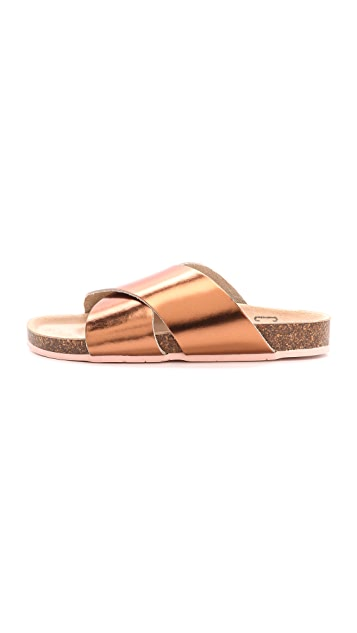 Charlotte Stone Luke Cross Strap Sandals