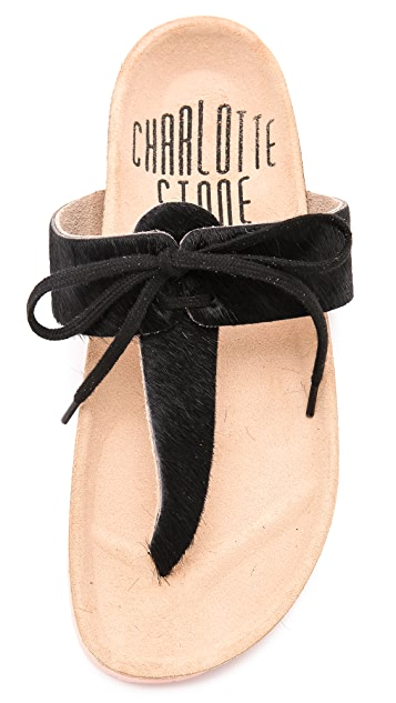 Charlotte Stone Joss Haircalf Thong Sandals