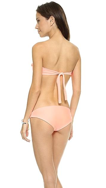 Citrine Swim Charleston Bandeau Bikini Top