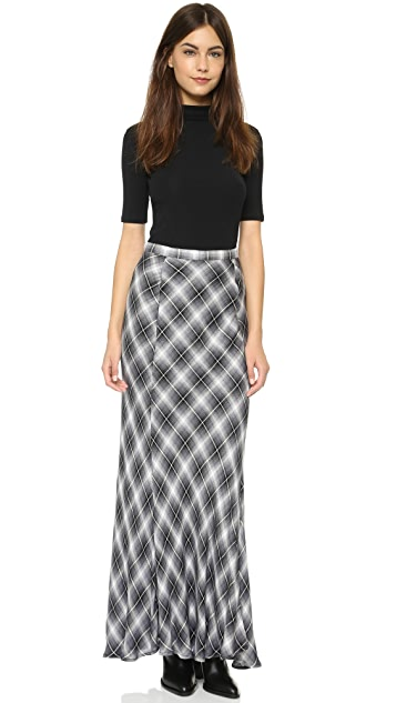 cupcakes and cashmere Whitworth Plaid Maxi Skirt