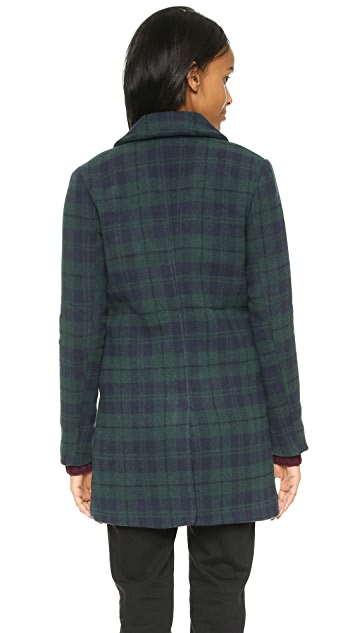 cupcakes and cashmere Cardiff Plaid Coat