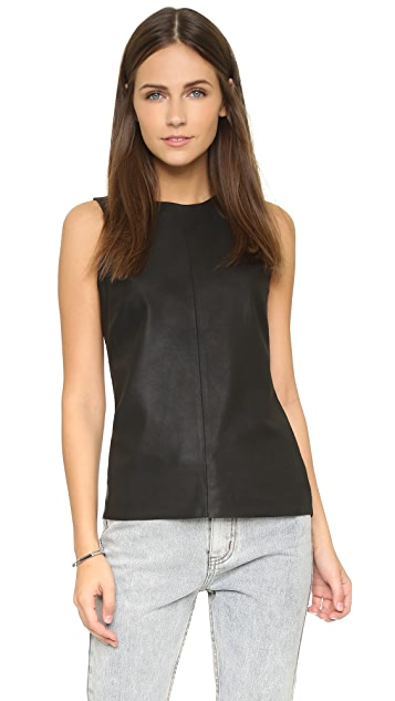 cupcakes and cashmere Marcarthur Leather Tank