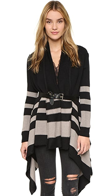 cupcakes and cashmere Lazy Morning Striped Cardigan
