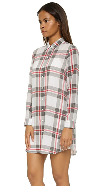 cupcakes and cashmere McCallister Plaid Shirtdress