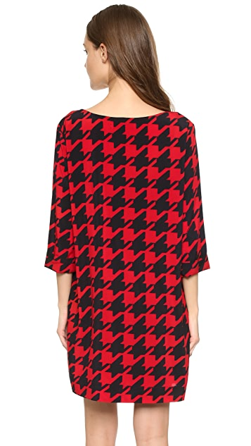 cupcakes and cashmere Mimi Oversized Houndstooth Dress