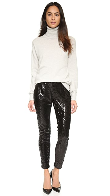 cupcakes and cashmere Plaza Sequin Trousers
