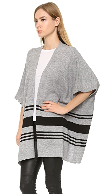cupcakes and cashmere Toro Striped Poncho