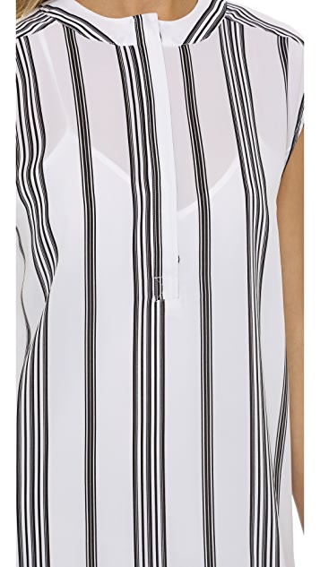 cupcakes and cashmere Charleston Vertical Stripe Dress