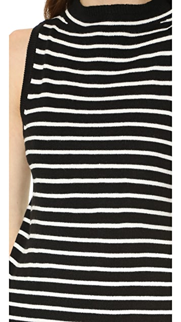 cupcakes and cashmere Piper Striped Sweater Dress