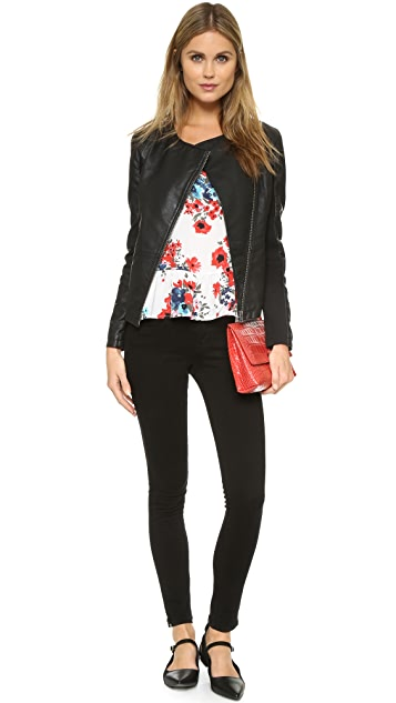cupcakes and cashmere Caitlyn Vegan Leather Jacket