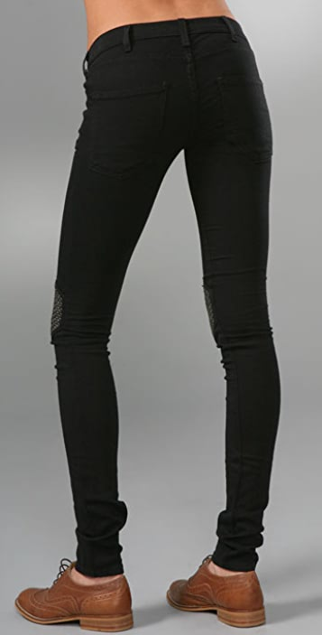 Current/Elliott The Grommet Knee Legging Jeans