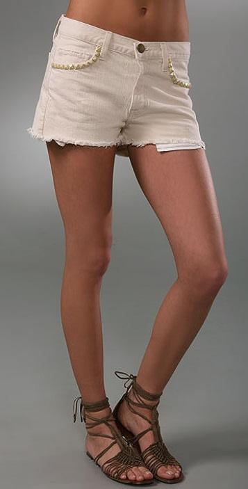 Current/Elliott The Boyfriend Studded Shorts