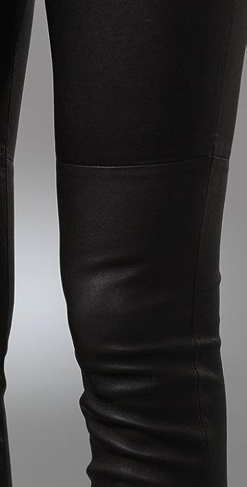 Current/Elliott The Leather Pull On Leggings