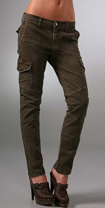 Current/Elliott The Slouch Seamed Cargo Jeans