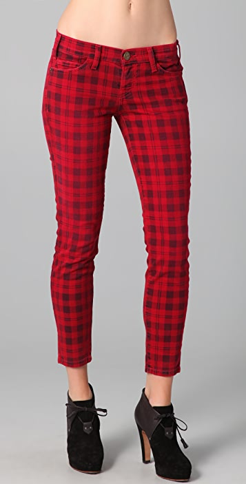 Current/Elliott The Stiletto Plaid Jeans