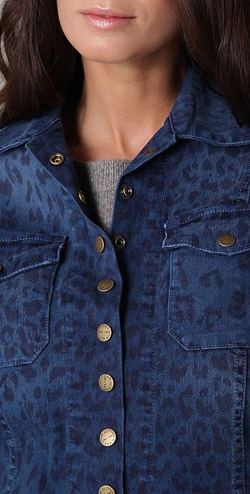 Current/Elliott Leopard Snap Jacket
