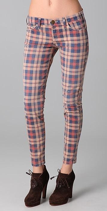 Current/Elliott The Stiletto Plaid Jeans