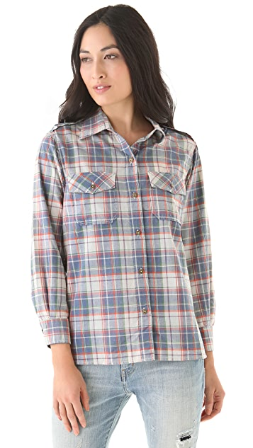 Current/Elliott The Perfect Shirt in Plaid