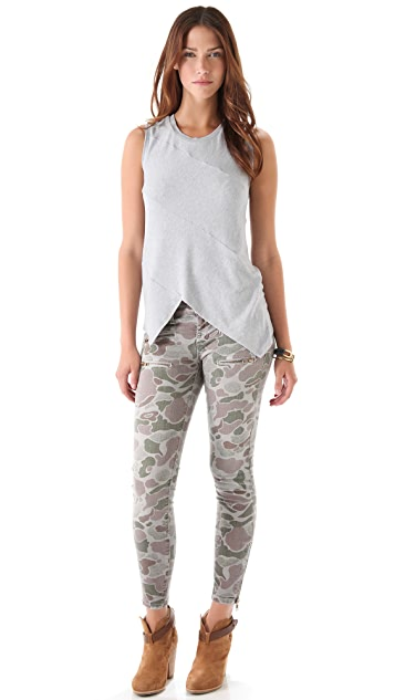 Current/Elliott The Multi Zip Stiletto Jeans