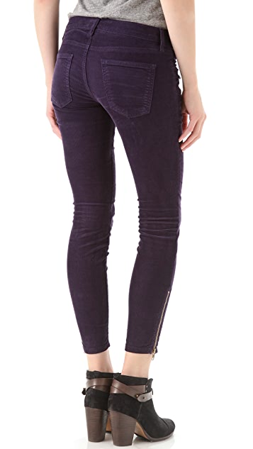 Current/Elliott Zip Stiletto Corduroy Pants