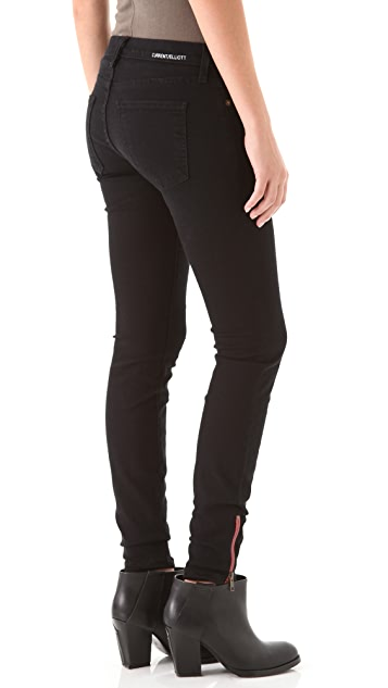 Current/Elliott Zip Ankle Skinny Jeans