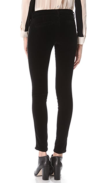Current/Elliott The Crop Tux Velveteen Pants