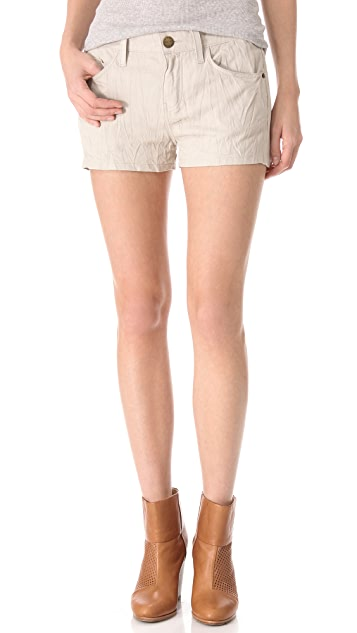 Current/Elliott The Boyfriend Leather Shorts