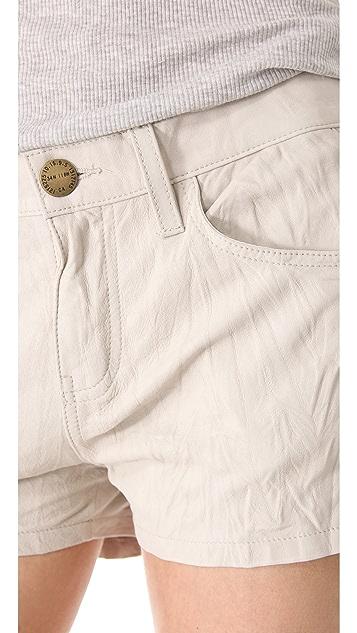 Current/Elliott The Boyfriend Leather Shorts