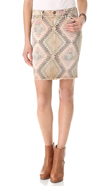 Current/Elliott The Cut Off Pencil Skirt