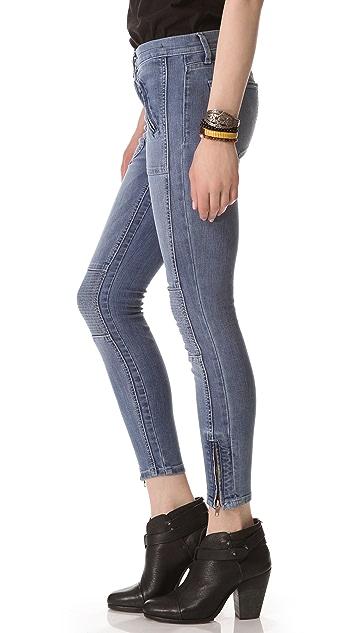 Current/Elliott The Moto Stiletto Jeans