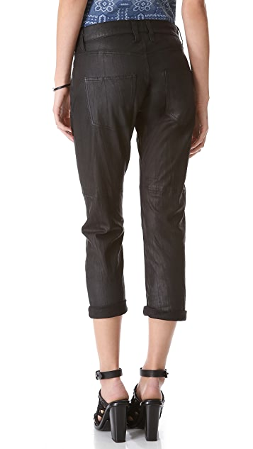 Current/Elliott The Boyfriend Leather Pants