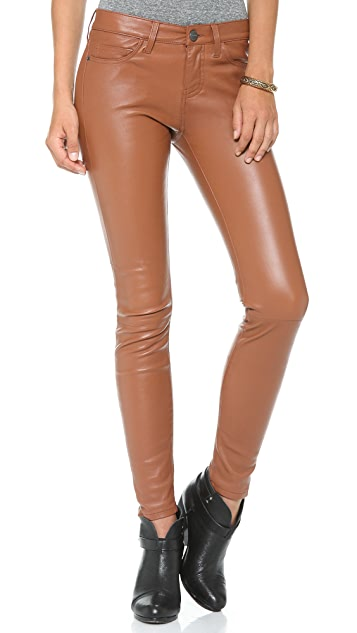 Current/Elliott Ankle Skinny Leather Pants