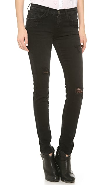Current/Elliott The Destroyed Ankle Skinny Jeans