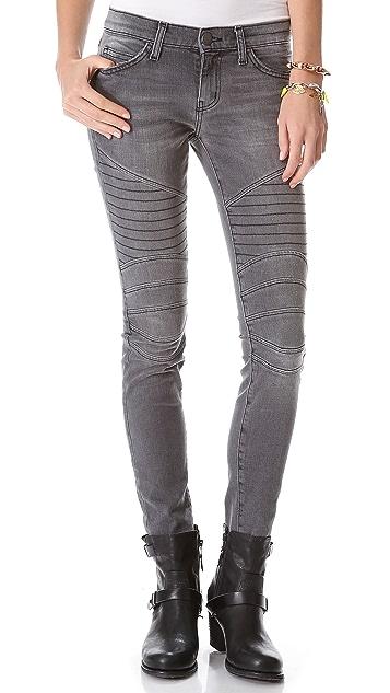 Current/Elliott The Moto Ankle Skinny Jeans