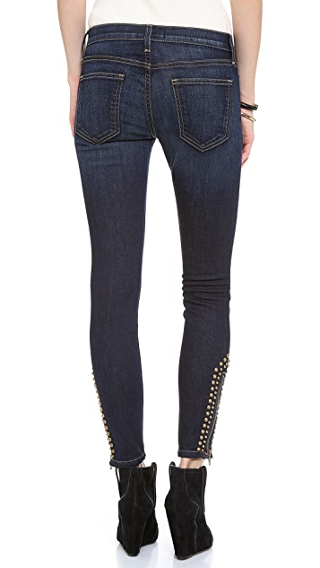 Current/Elliott The Zip Stiletto Skinny Jeans