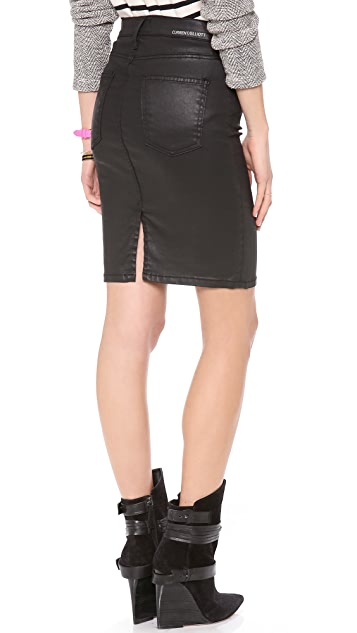 Current/Elliott The Coated Stiletto Pencil Skirt