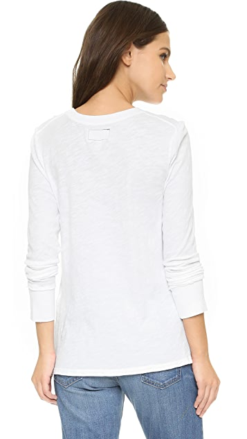 Current/Elliott The Long Sleeve Pocket Tee